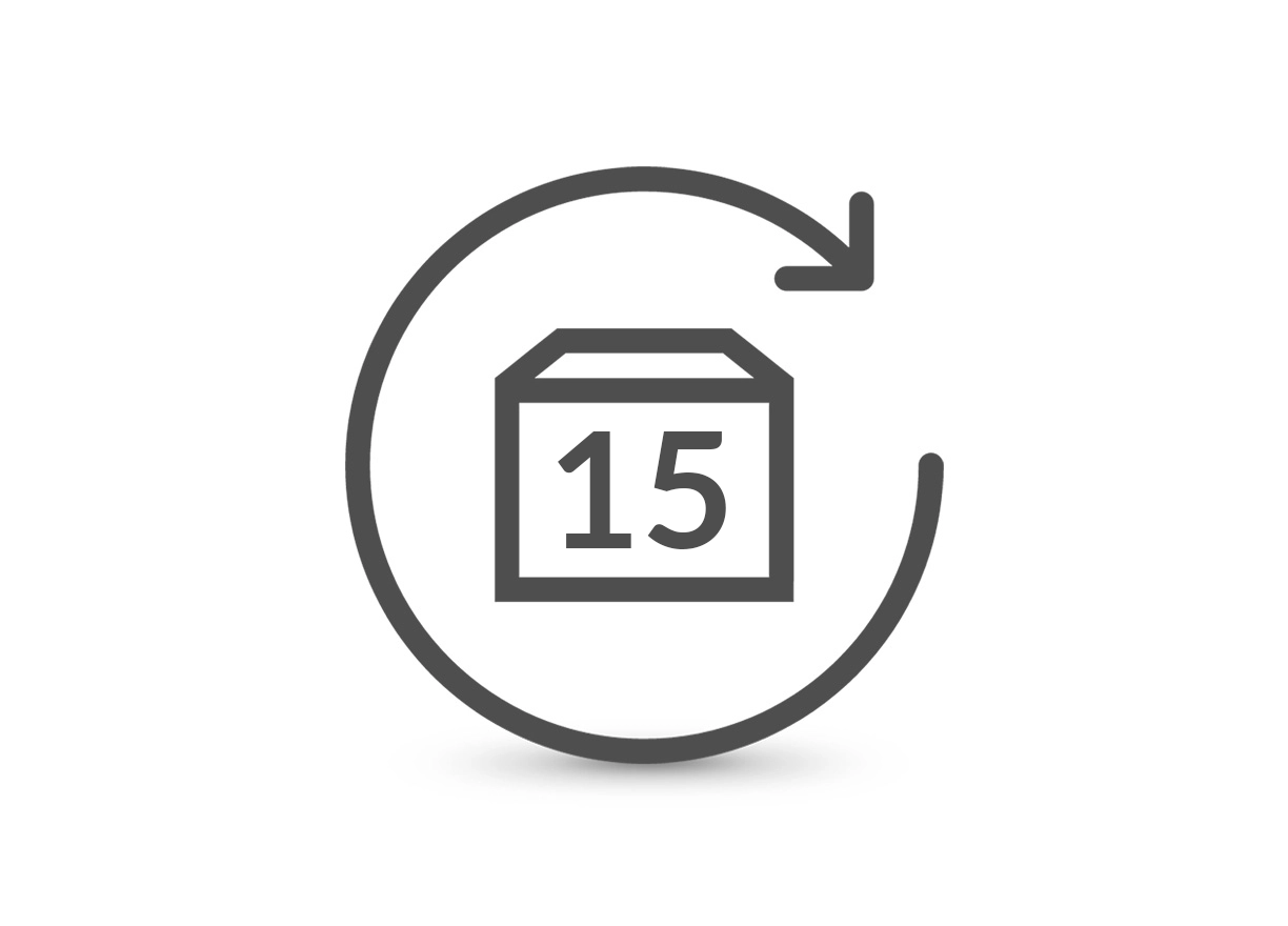 Easily return products with our 15-day returns policy.