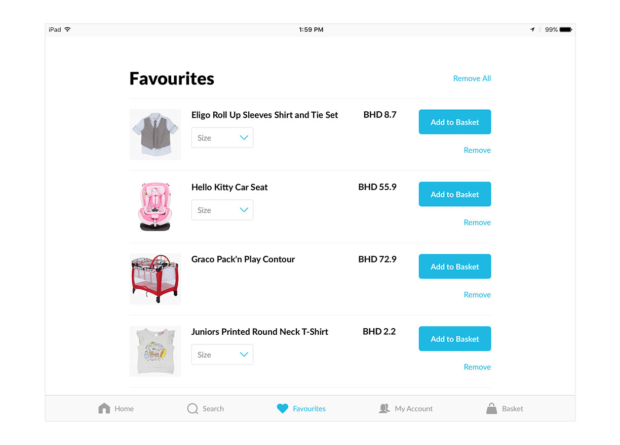 Favourite the products you love.