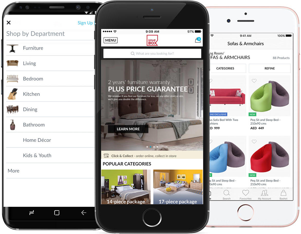 Shop on-the-go with our easy iPhone and Android apps