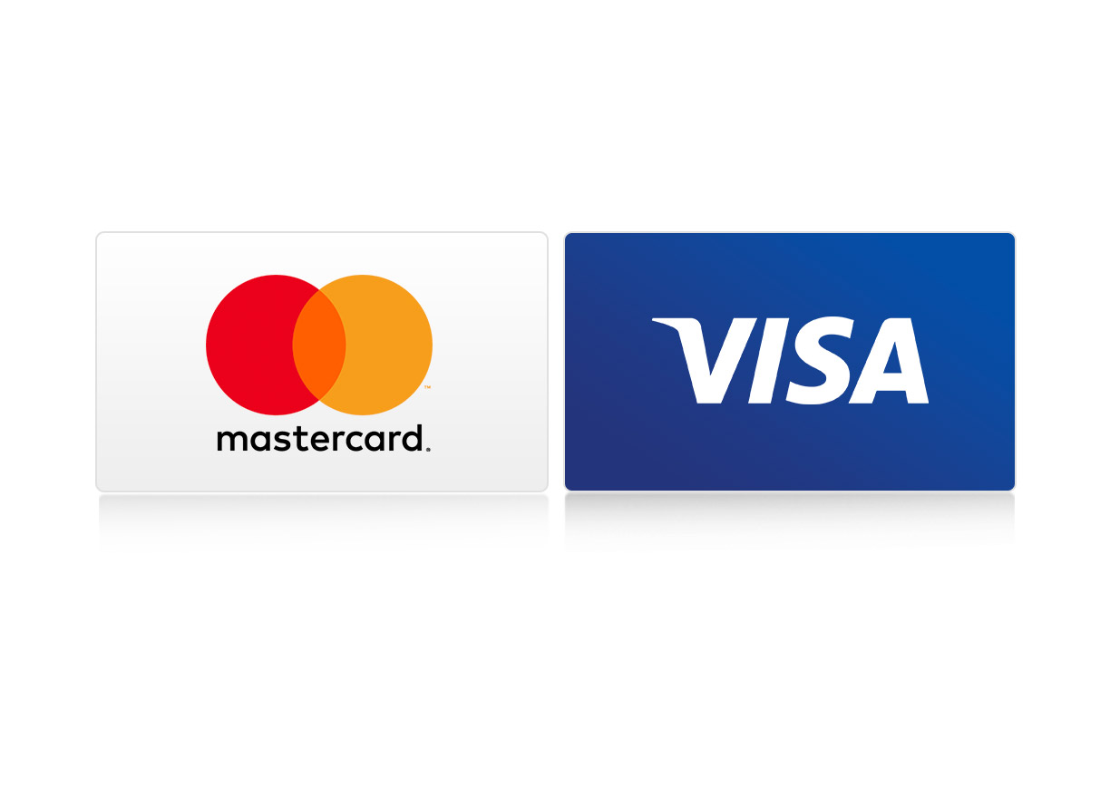 Pay with international Credit Cards.