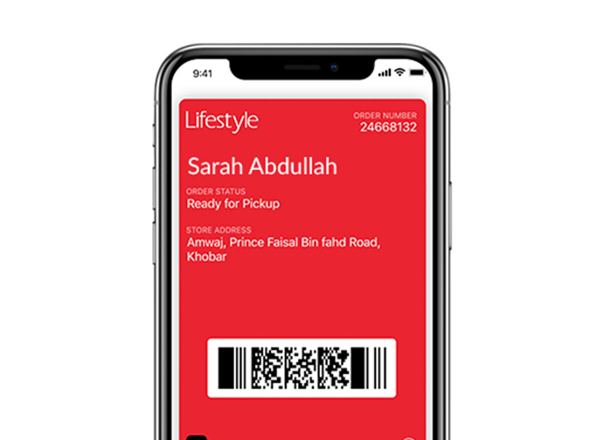Collect your Click & Collect orders using Apple Wallet!